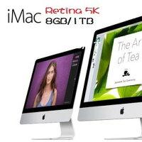 Apple 蘋果商品推薦Apple 蘋果   iMac MK462TA/A Rtina 5K 27吋AIO桌機 Retina 5K /i5-3.2/2x4GB/1TB SATA/M380-2G/Rtina 5k