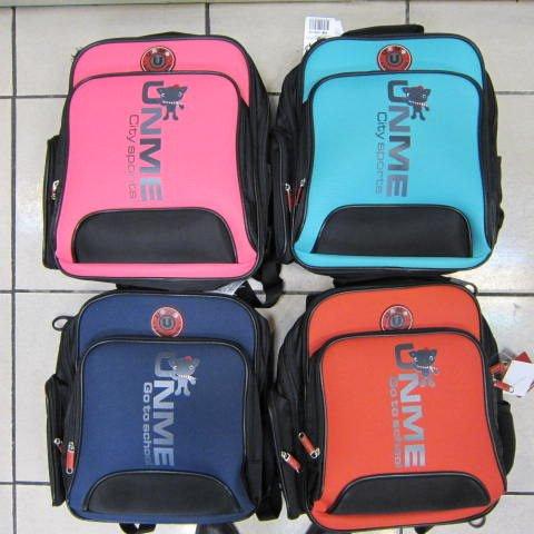 ~雪黛屋~UNME 雙層多功能造型書包 超輕護脊透氣護肩背包 正版授權商品台灣製造#3077粉紅
