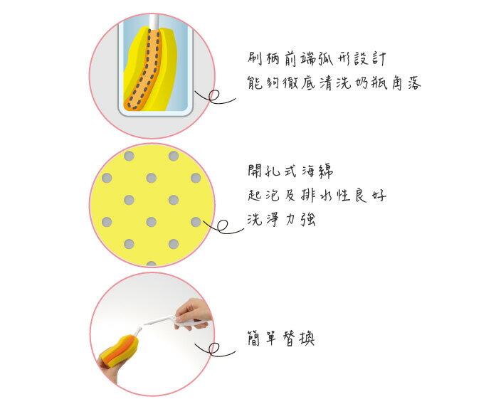Richell利其爾 - 銀離子抗菌360度旋轉可拆式奶瓶刷替換刷頭 3