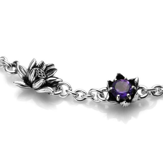 【海外訂購】【KONRON】花開紫水晶純銀手鍊(KRBCB1072-A  0552120000) 1