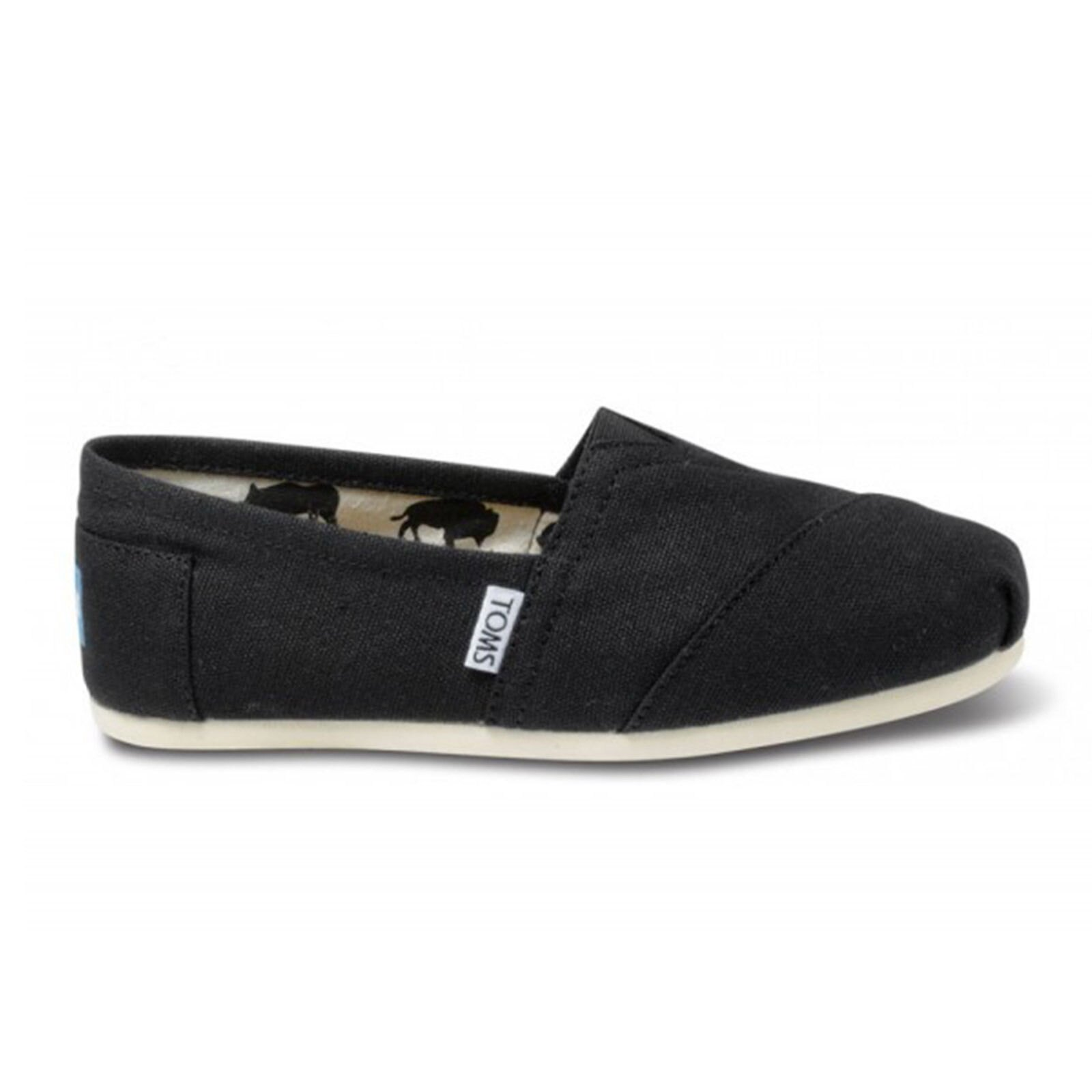 【TOMS】黑色素面基本款休閒鞋  Black Canvas Women's Classics 2