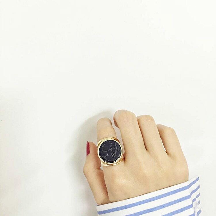 戒指 簡約紋理幾何形氣質戒指【TSJE6375】 BOBI  07/07 1