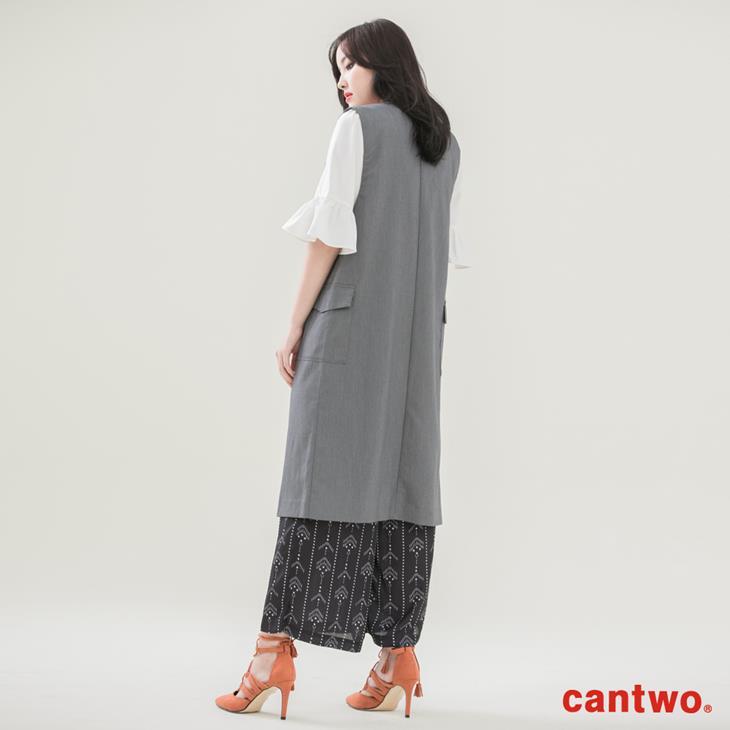 cantwo長版西裝背心(共二色) 3