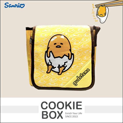 正版 三麗鷗 蛋黃哥 側背袋 包包 提袋 書包 日本 吉祥物 授權 收納 出遊 兒童 *餅乾盒子*