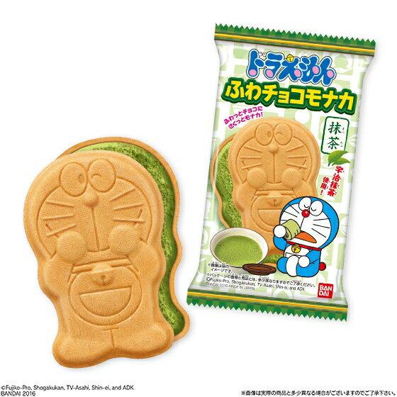 有樂町進口食品 日本進口 BANDAI 萬代 哆啦A夢 小叮噹最中抹茶巧克力餅 J28 4549660009443