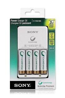 【普羅相機】SONY BCG-34HH4KN 經濟低自放電SX型2100mAh電池充電組(3號AA充電電池4顆)