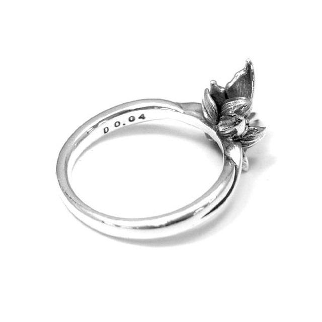【海外訂購】【KONRON】花之回憶鑽石純銀戒指(KRR0544-D) 1