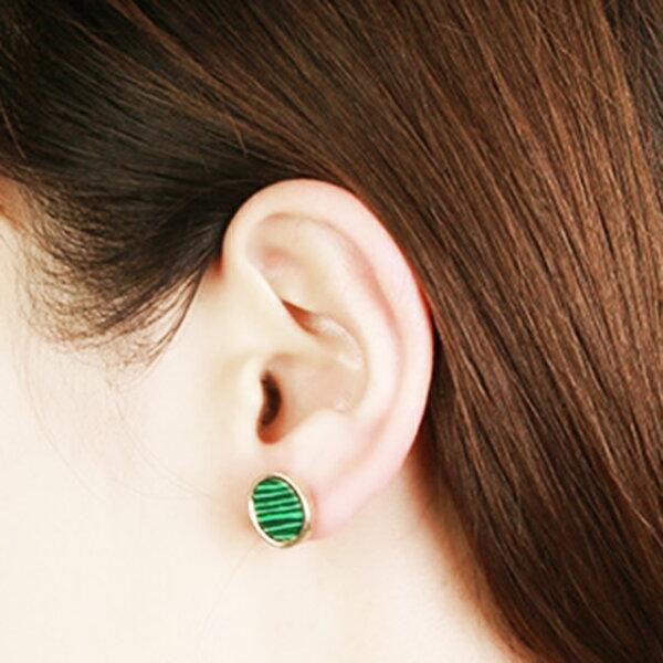 幾何綠松石合金耳針