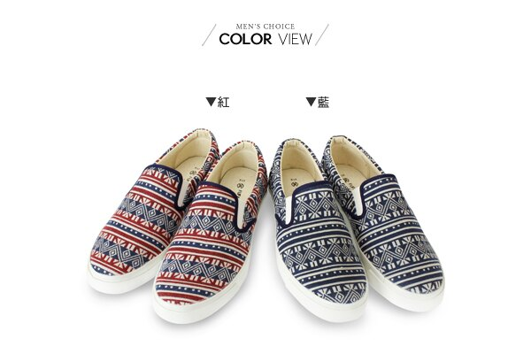 ☆BOY-2☆【NKP-UP79】懶人鞋 民族圖騰休閒帆布鞋 1