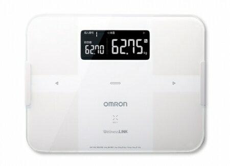 OMRON歐姆龍體重體脂肪計 HBF-254C(白色),限量加贈歐姆龍計步器HJ325及歐姆龍專用提袋
