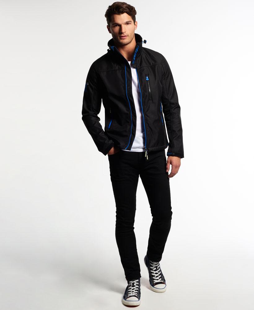 英國名品 代購 極度乾燥 Superdry Windtrekker 男士風衣戶外休閒外套 防水 黑色/寶藍色 1
