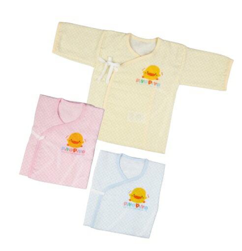 【安琪兒】台灣【黃色小鴨】紗布方格印花肚衣(藍/粉/黃) 1