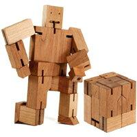 【 樂客生活 】創意DIY木頭魔方機器人 兒童奇趣魔方玩具機器人 積木魔方 生日禮物禮品