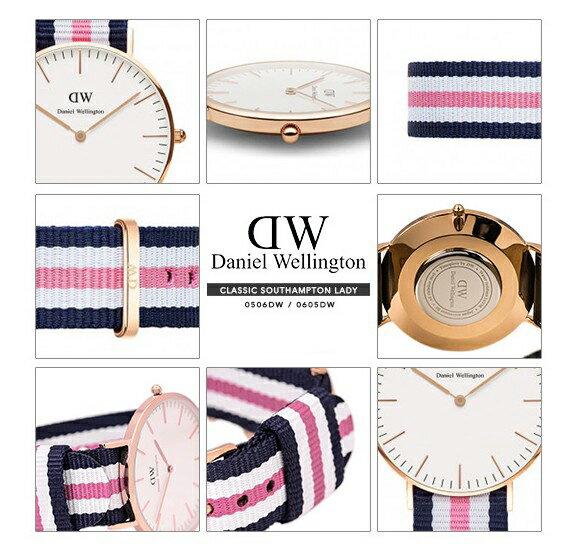 瑞典正品代購 Daniel Wellington 0506DW 玫瑰金 尼龍 帆布錶帶 女錶手錶腕錶 36MM 2