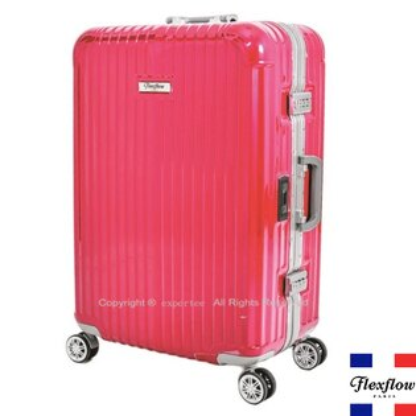 [騷包館]Flexflow 羅亞爾旅人 26吋 世界第一智能秤重鋁框飛機輪行李旅行箱 桃紅 FLG16PRL26