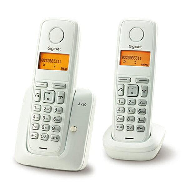 Gigaset 德國數位子母型無線電話機 白色 A220DUO**免運費**