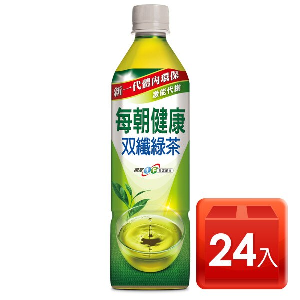 御茶園每朝健康雙纖綠茶650ml*24 - 限時優惠好康折扣