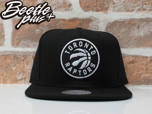 BEETLE MITCHELL&NESS NBA TORONTO 多倫多暴龍 黑白 後扣 棒球帽 SNAPBACK MN-361 0