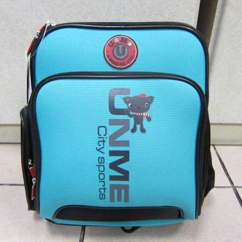 ~雪黛屋~UNME 雙層多功能造型書包 超輕防水護脊透氣護肩書包正版授權商品品質保證#3077