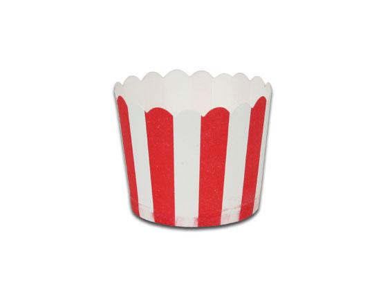 瑪芬杯、杯子蛋糕、烘烤紙杯 MF5040-01 紅白條紋(50pcs/包)