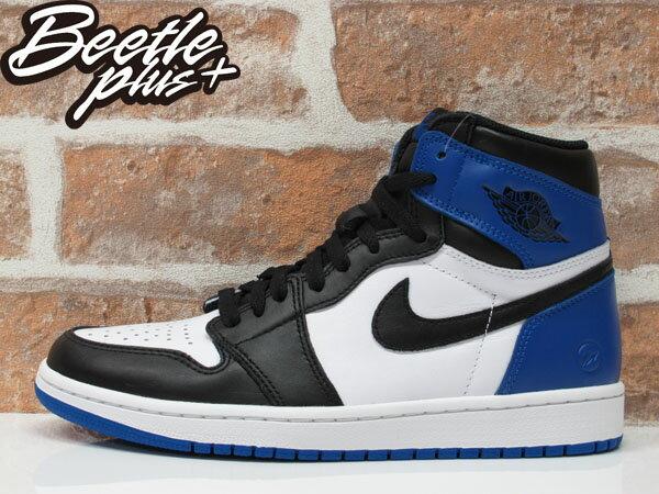 BEETLE PLUS NIKE AIR JORDAN 1 RETRO OG X FRAGMENT 藤原浩 黑白藍 閃電 限定 聯名 喬丹 一代 籃球鞋 716371-040