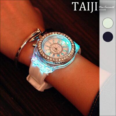 NXD027潮流手錶‧韓國 夜光 手錶‧二色~NXD027~~TAIJI~編織 街頭