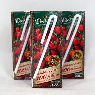 【敵富朗超巿】泰國皇家農場100%鮮果汁-草莓