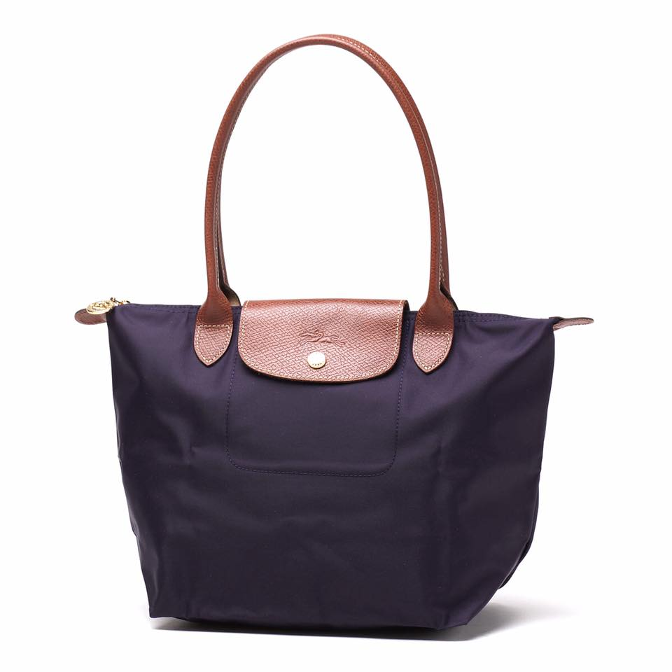 【LONGCHAMP】 LE PLIAGE 基本摺疊款/長把水餃包(深紫/小) 0
