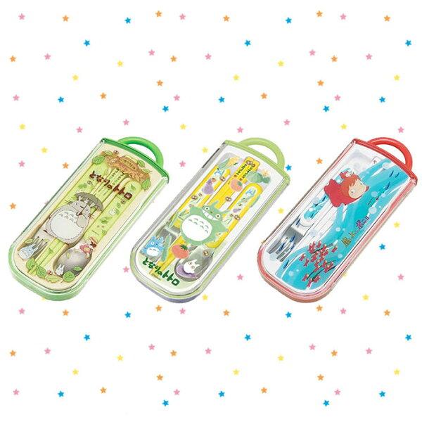 大田倉 日本進口正版 吉卜力 TOTORO 豆豆龍 Ponyo 崖上的波妞  餐具組 3合1 兒童餐具