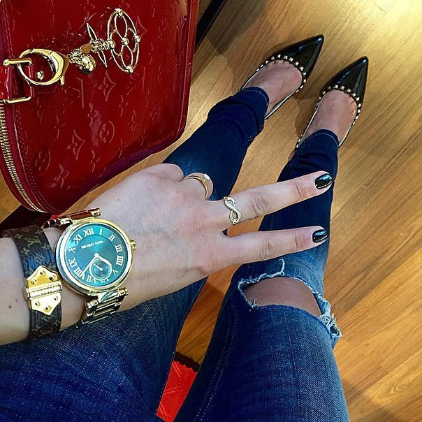 美國Outlet正品代購 MichaelKors MK 復古羅馬鑲鑽馬腦綠  陶瓷  三環 手錶 腕錶 MK6065 7