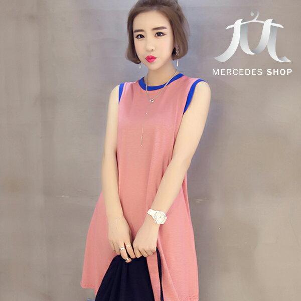 梅西蒂絲-修身顯瘦無袖連身裙
