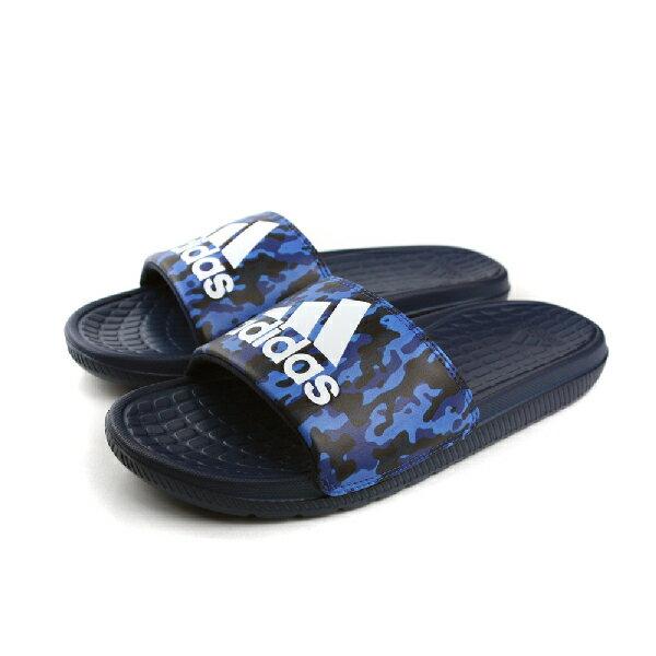 adidas 拖鞋 男鞋 黑藍色 no346