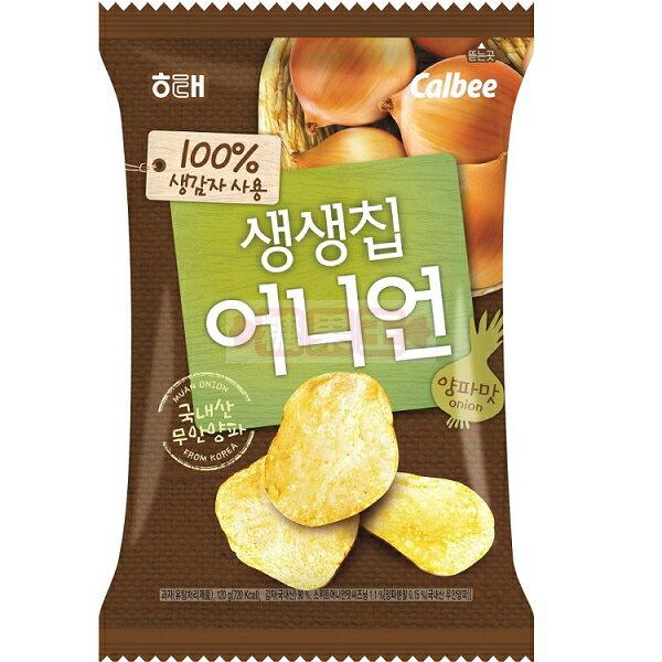韓國餅乾 海太Calbee 卡樂比 生生洋芋片 (洋蔥口味)