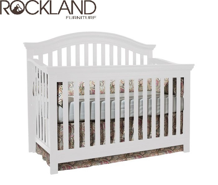 【Rockland】奧克蘭四合一大床(2色)-附贈床墊+床側護欄 0