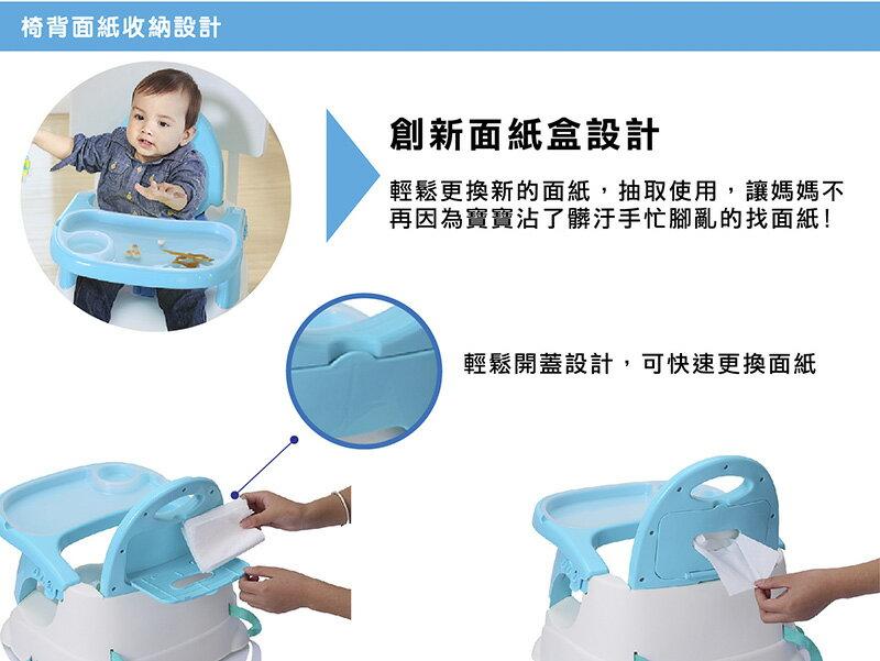 『121婦嬰用品館』傳佳知寶 babyhood 咕咕餐椅-湖藍 (附透明餐盤) (附透明餐盤) 2