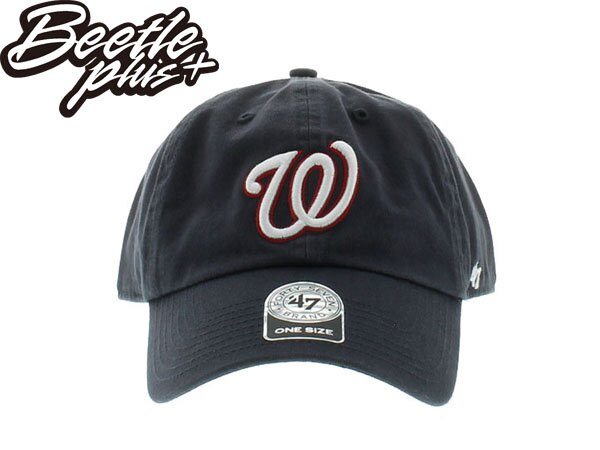 BEETLE 47 BRAND 老帽 華盛頓 國民 WASHINGTON NATIONAL DAD MLB 深藍 白紅 0