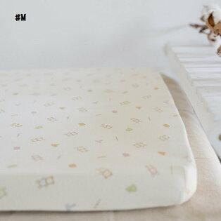 嬰兒【精梳棉】床包。嬰兒床單。嬰兒床罩-M米色小熊