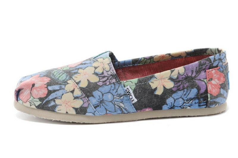 【TOMS】熱帶花朵平底休閒鞋  Faded Tropical Women's Classics 3