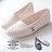 格子舖*【ANW506】MIT台灣製 嚴選豆豆鞋 簡約舒適透氣洞洞皮革 懶人鞋 娃娃鞋 圓頭包鞋 3色 0