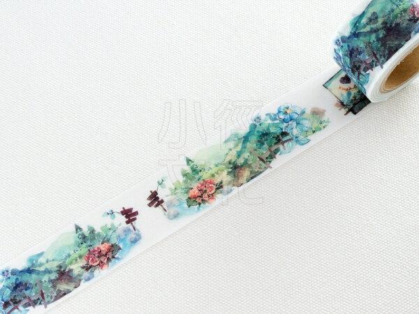 *小徑文化* | 台灣原創紙膠帶 | 黑夢蝶 - 園林 ( 405 ),RT承製,台灣限定販售