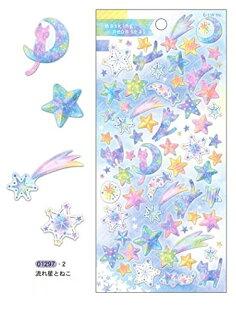 *小徑文化*日本進口 Q-Lia masking neon seal 螢光和紙貼紙 - 流星 ( 01297 )