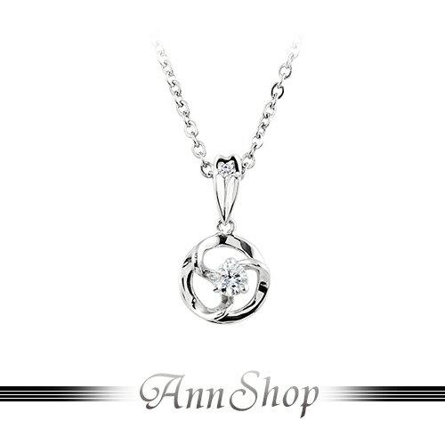 AnnShop~925純銀‧相擁.鋯石 鑽石純銀項鍊~可客製化鑽石珠寶銀飾 ZP099 ~