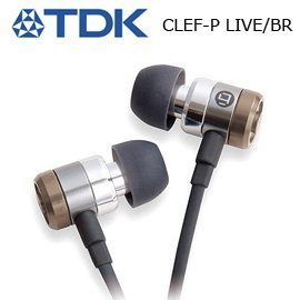 【集雅社】 TDK CLEF-P LIVE 耳塞式 耳機 Live聲密閉型 棕色 公司貨 ★全館免運