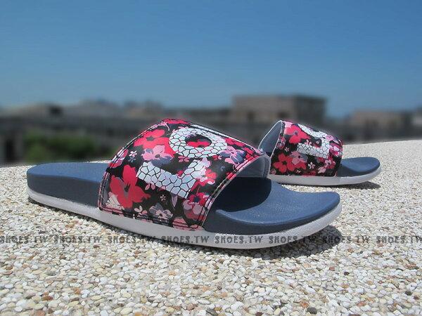 Shoestw【S78607】ADIDAS Supercloud 拖鞋 超柔軟底 白灰小花 花卉 LOVE