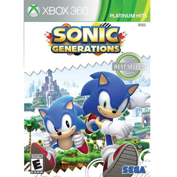 (二手商品)XBOX360 音速小子:世代 純白時空 英日文美版 Sonic:Generations
