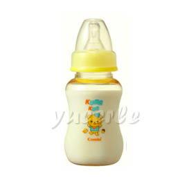 【悅兒樂婦幼用品舘】Combi 康貝 Kuma Kun 標準口PES哺乳瓶150ml (黃) ~新品上市~