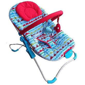 【奇買親子購物網】Mother's Love 摺疊安撫搖椅(藍/咖啡)