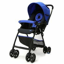 【淘氣寶寶】奇哥 Joie Float 雙向輕量推車(附雨蓬.藍色)【單手收合/推車4.8kg/51公分高景觀座椅】【奇哥正品】