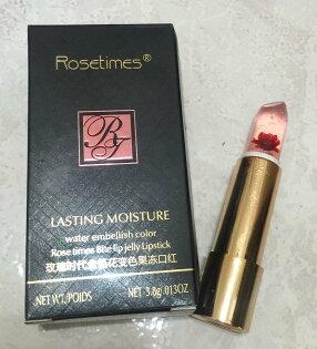 玫瑰時代金箔花變色果凍口紅 花瓣體感溫度口紅 ROSE TIMES BITE LIP JELLY LIPSTICK 3.8g 推壓式 味道清香服貼好上色