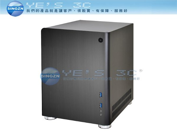 「YEs 3C」全新 Lian-Li PC-Q01 Mini-ITX / Mini-DTX 全鋁 電腦機殼 黑 yes3c